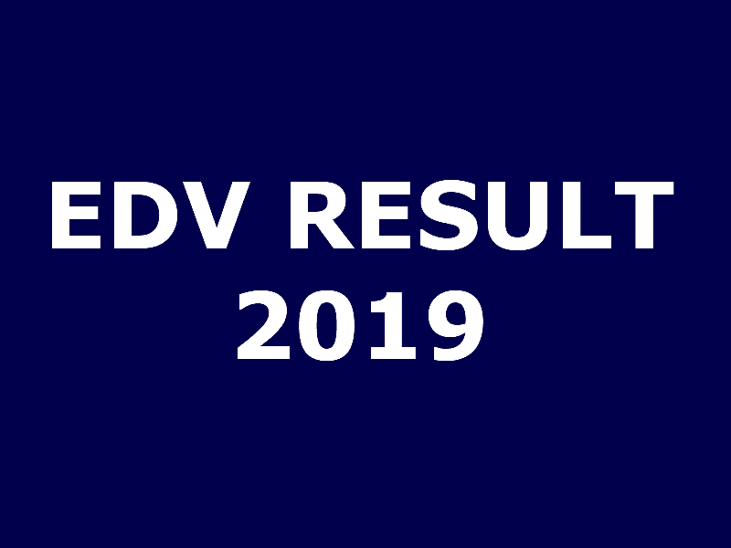 Check your EDV result 2019