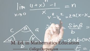 M. Ed. in Mathematics Education