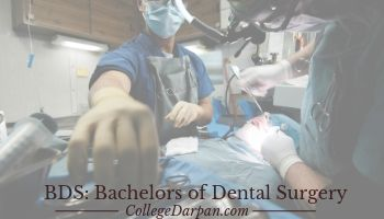BDS: Bachelors of Dental Surgery