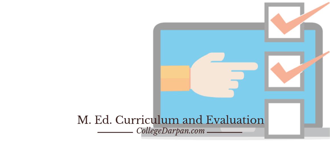 M. Ed. Curriculum and Evaluation