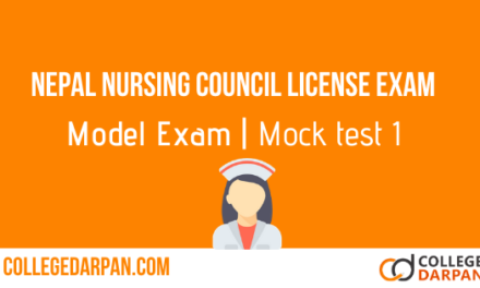 Nepal Nursing Council Licensure Exam Model Exam questions: Set 1