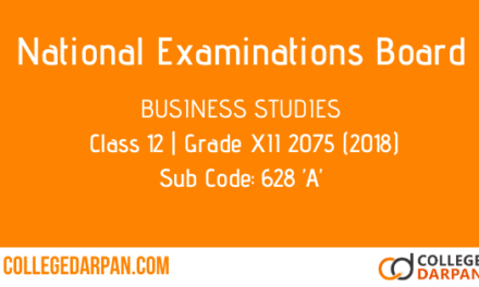 NEB- Grade XII 2075 (2018) Business Studies(628 'A')
