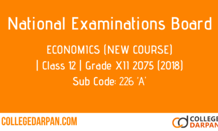 NEB- Grade XII 2075 (2018) Economics (New Course)(226 'A)