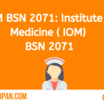 Institute of Medicine(IOM) BSN 2071