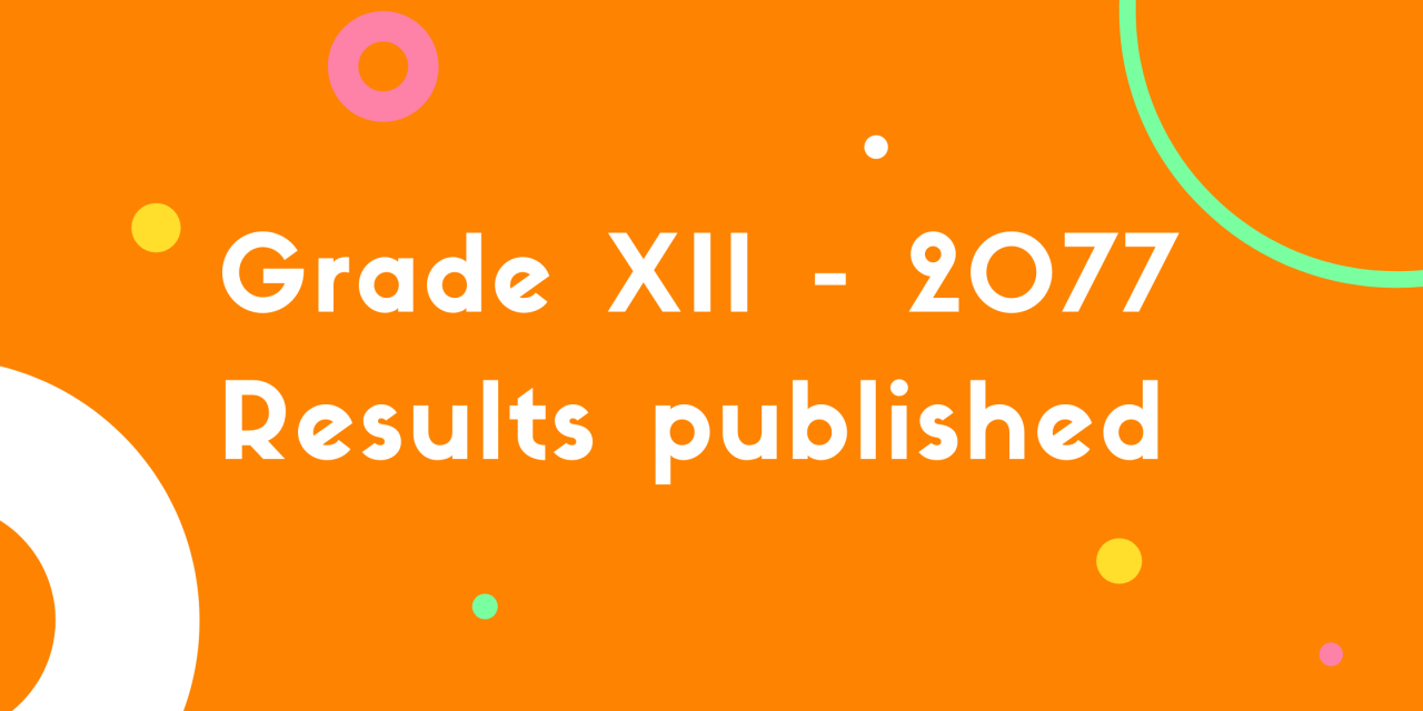 Grade XII – 2077 results published